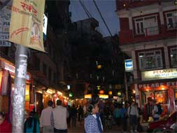 Khatmandu, the Capital of Nepal. Thamel. Photograph