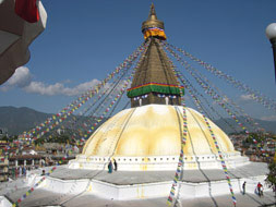 Khatmandu, the Capital of Nepal. Boutdanath. Stupa. Photo