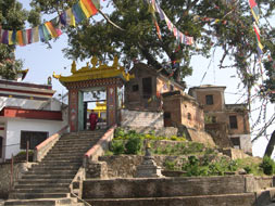 Khatmandu, Svayambounath. Temple. Photo